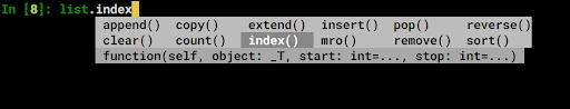 ipython tab completion