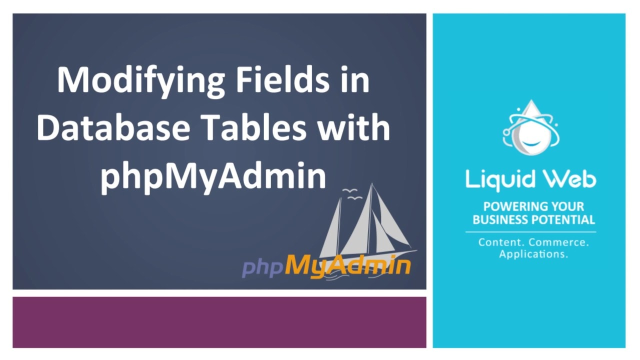 Modifying Fields in Database Tables with PhpMyAdmin