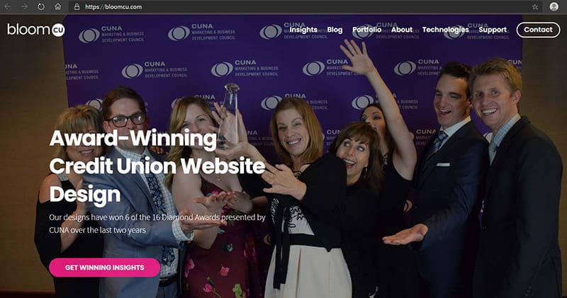 bloomcu homepage with ssl keeps their website secure