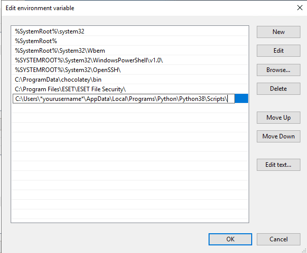 new sys env variable