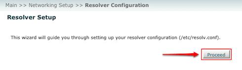 WHM Resolver Config - Step 1