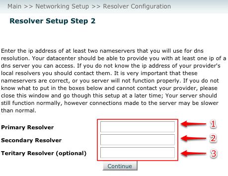WHM Resolver Config - Step 2