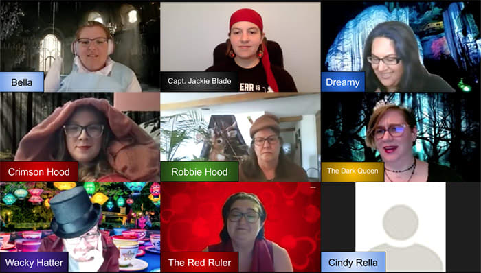 Remote virtual role playing and acting