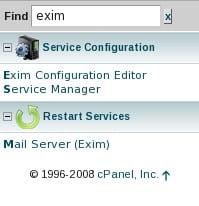 WHM Search Box