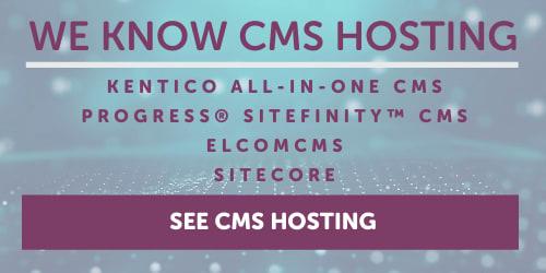 CMS Hosting banner