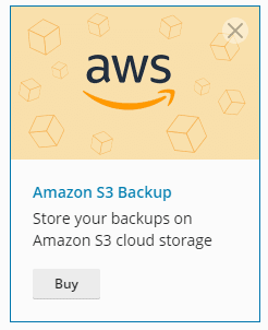 Plesk Amazon S3 Plugin