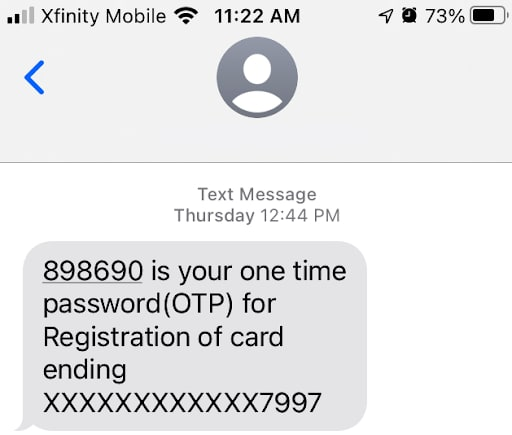 SMS authentication is a great way to secure using two factor authentication.