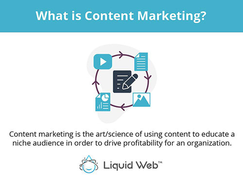 Content marketing is the art and science of creating content designed to educate a niche audience in order to drive profitability for a company or organization.