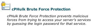 Security Center - cPHulk Link