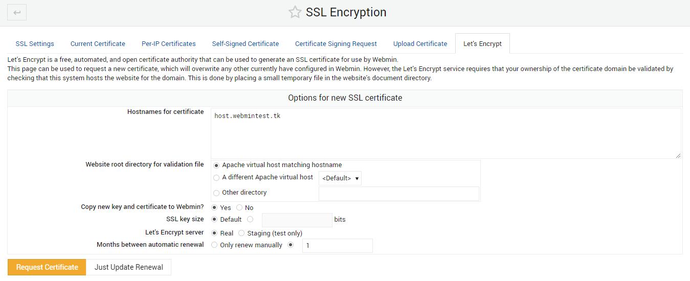 SSL-lets-encrypt-request-certificate