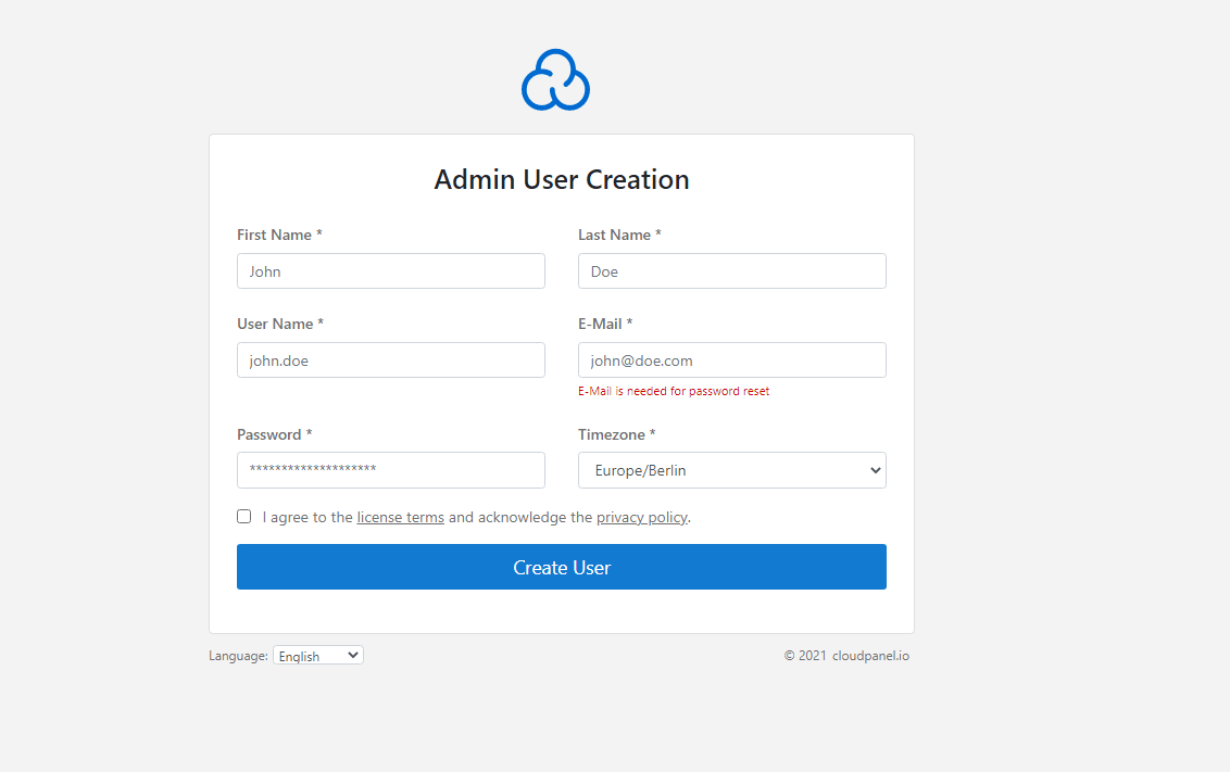 cloudpanel-admin-user-creation
