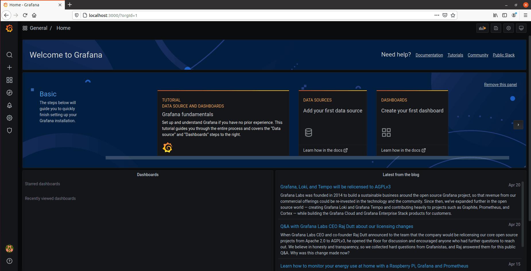 grafana-interface