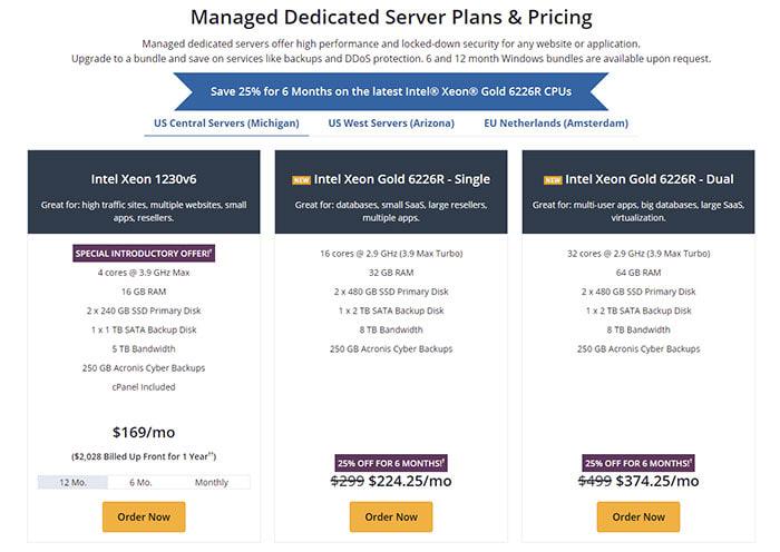 Step 1: Choose a dedicated server processor