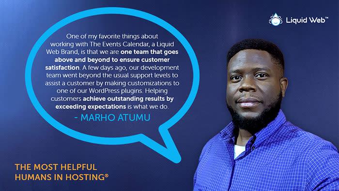 Meet a Helpful Human - Marho Atumu