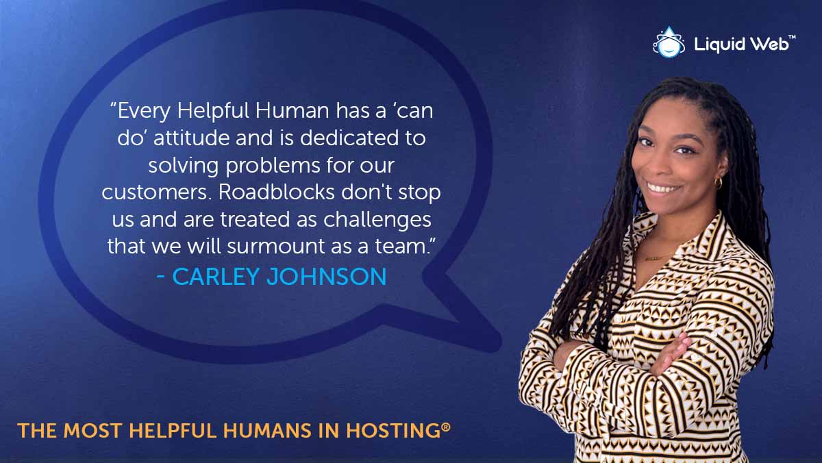 Helpful Human Carley Johnson