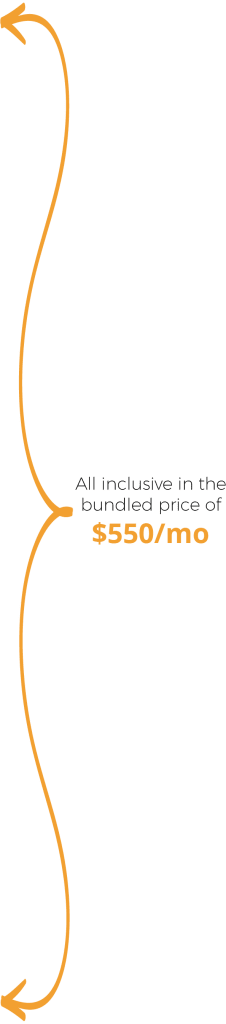 All inclusive in the bundled price of $550/mo