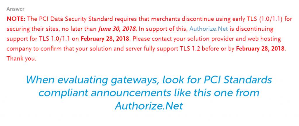 PCI data security standards
