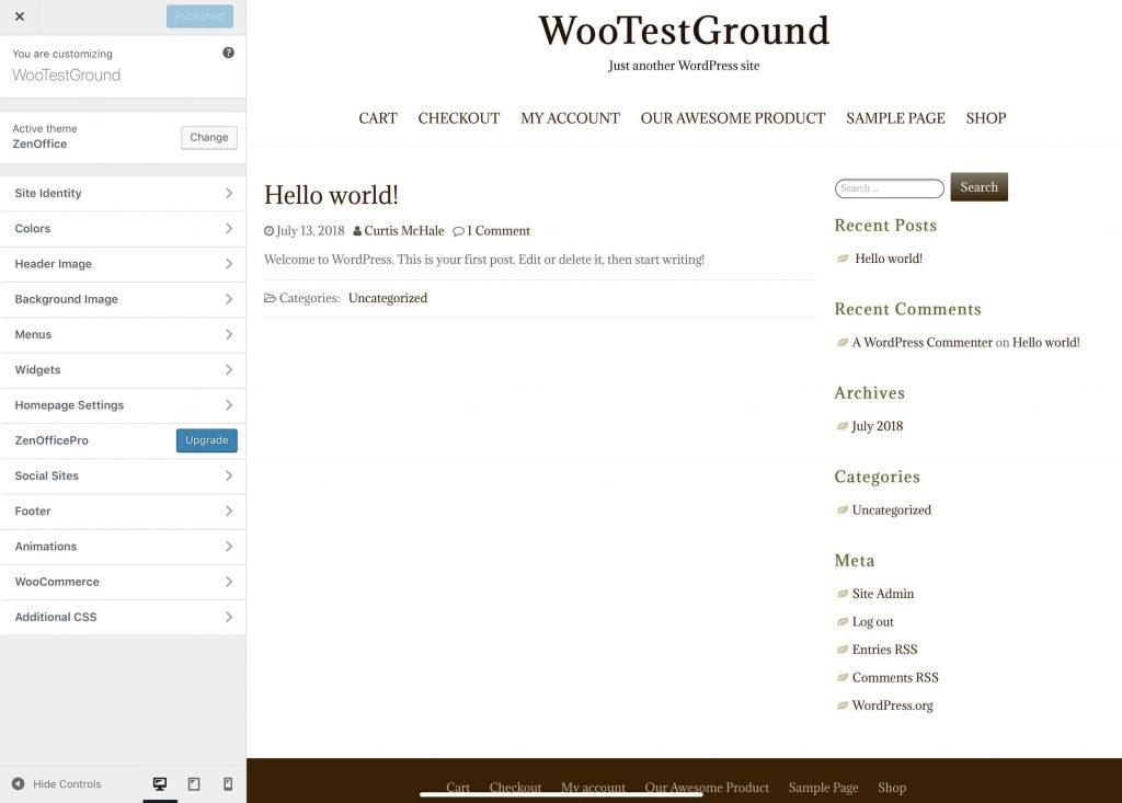 Customizing your new theme