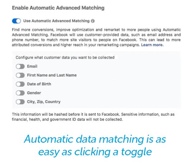 Auto data matching toggle