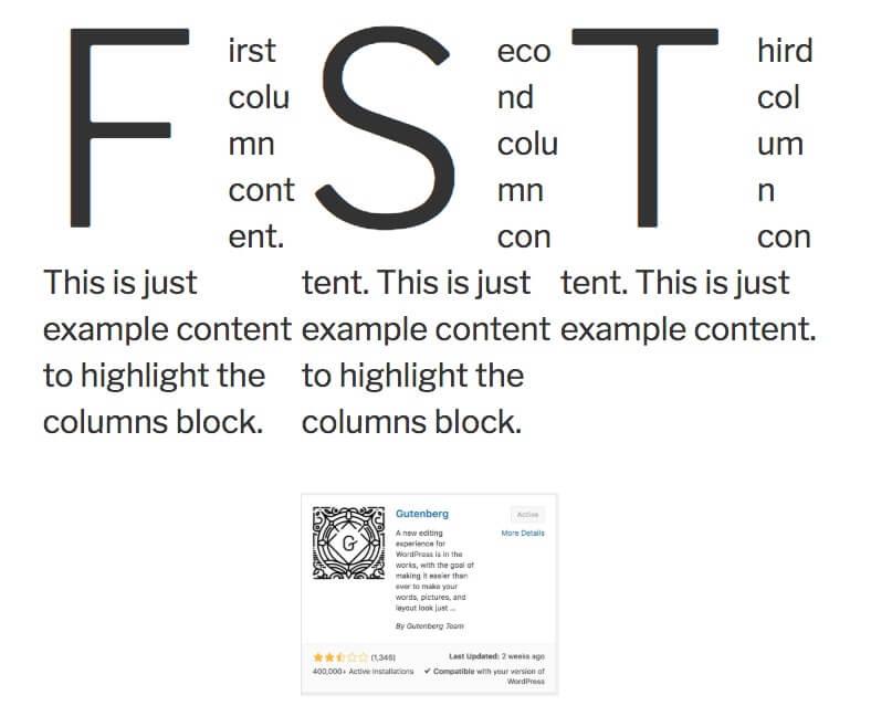 Gutenberg Example