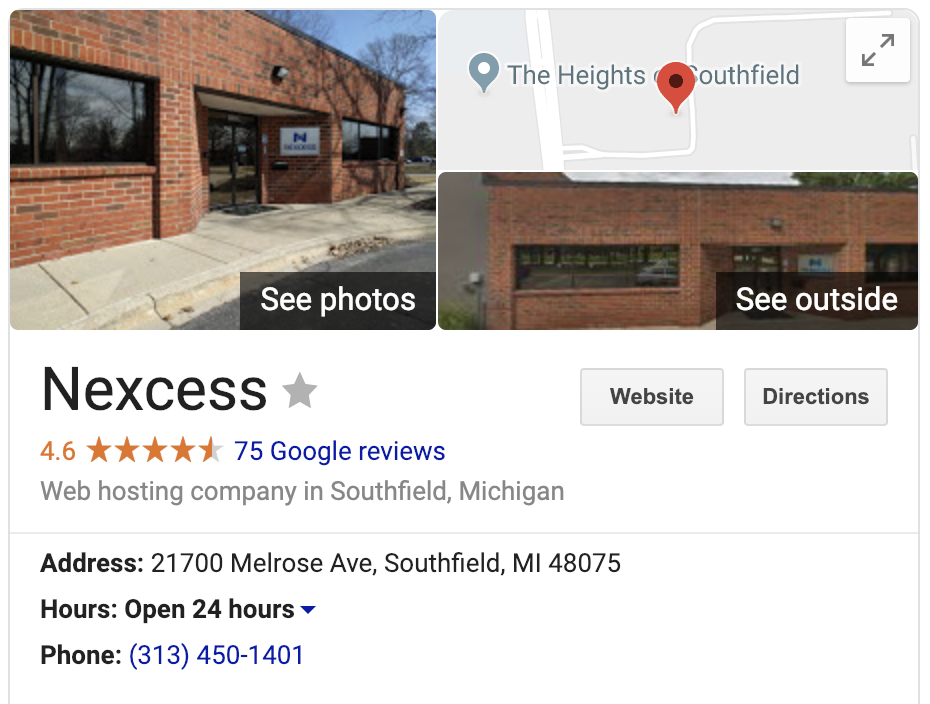 An example of optimized Google Local SEO