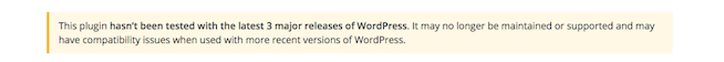 Avoid this message for WordPress plugins