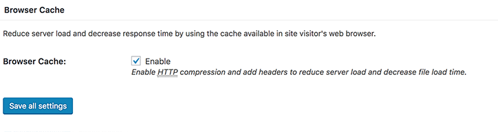 Browser Cache in W3 for WordPress
