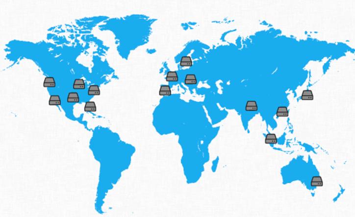 CDN locations wordwide data center
