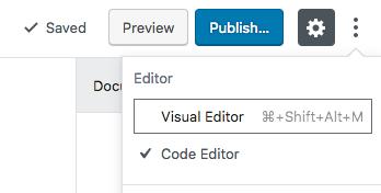 How to Open Gutenberg Code Editor