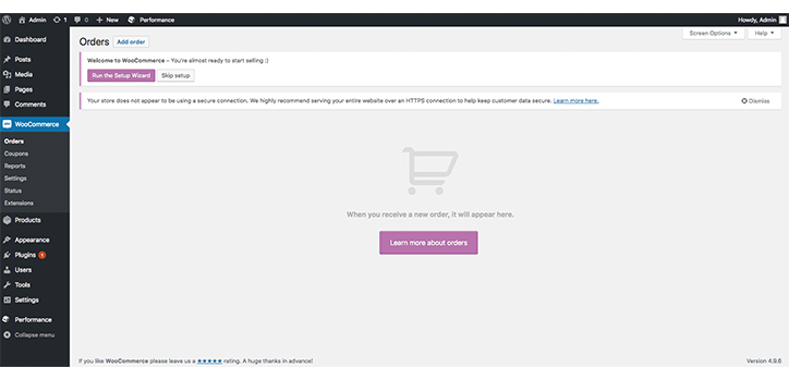 How to start the WooCommerce Setup Wizard