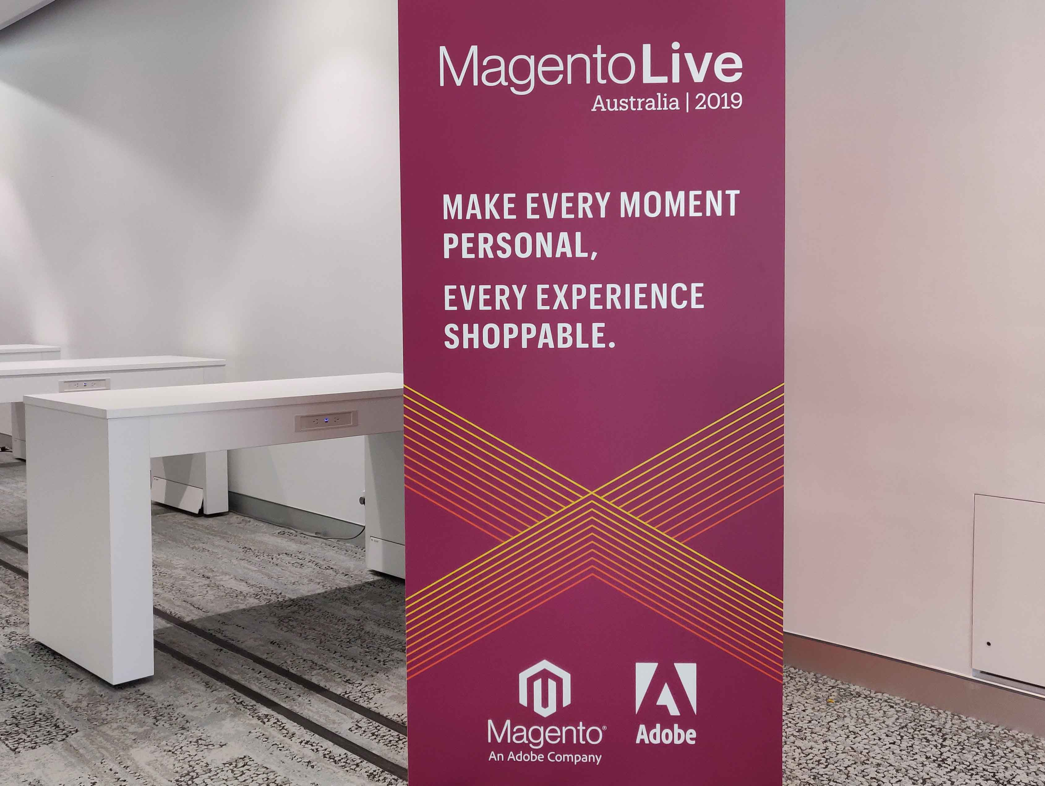 Magento Live Australia Creating Experience Commerce Sign