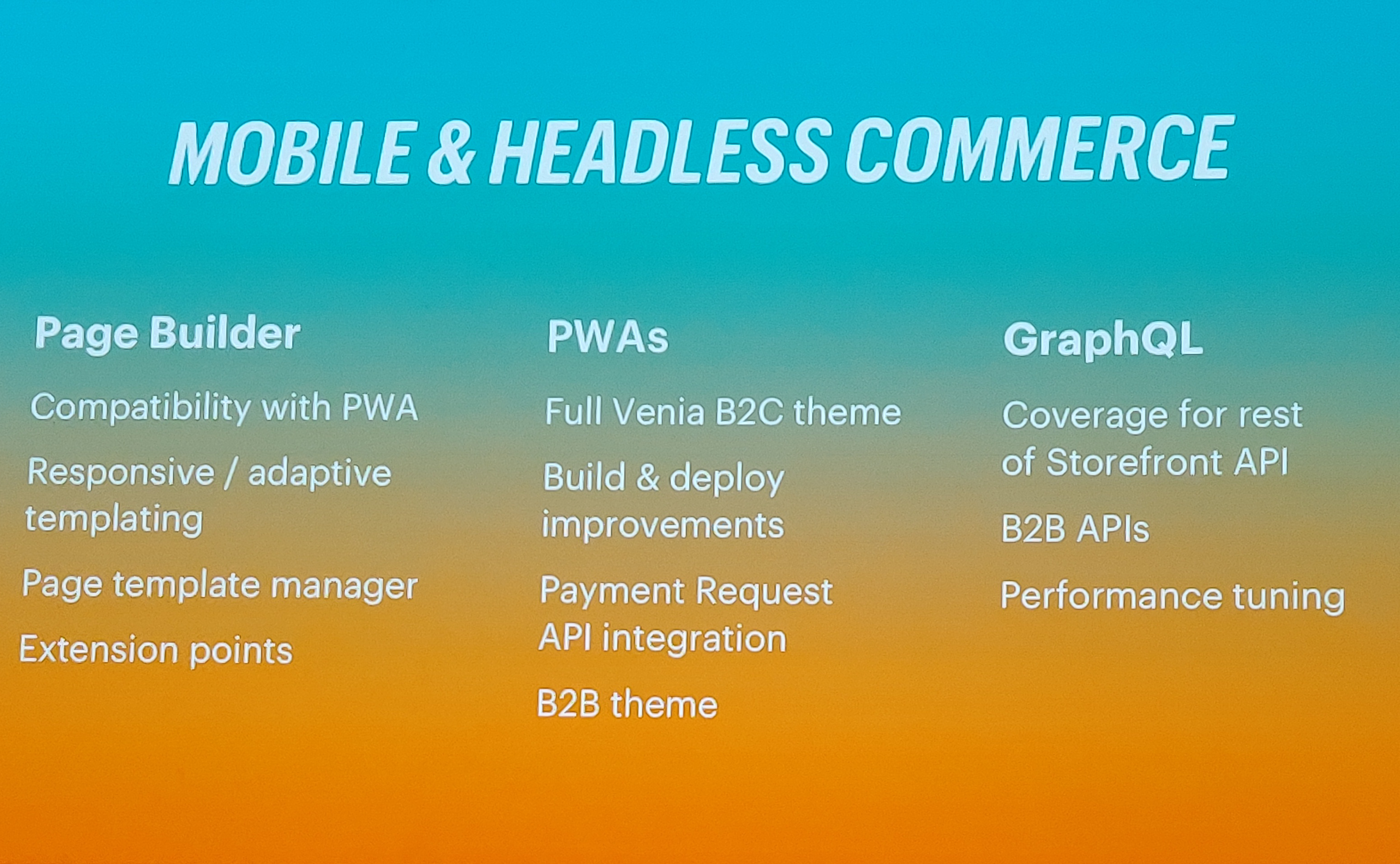 Mobile and Headless commerce with Magento page builder