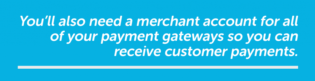 Need a merchant account for payment gateway payments