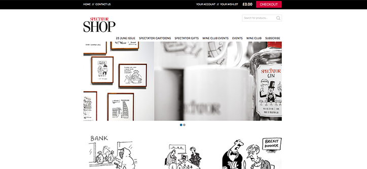 Spectator is just one example of a great WooCommerce site