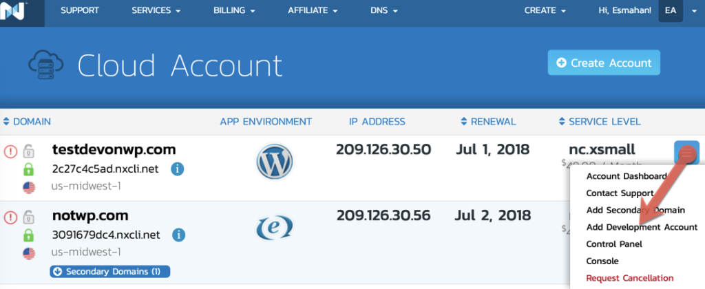 Spin up a dev site to test wordpress 5