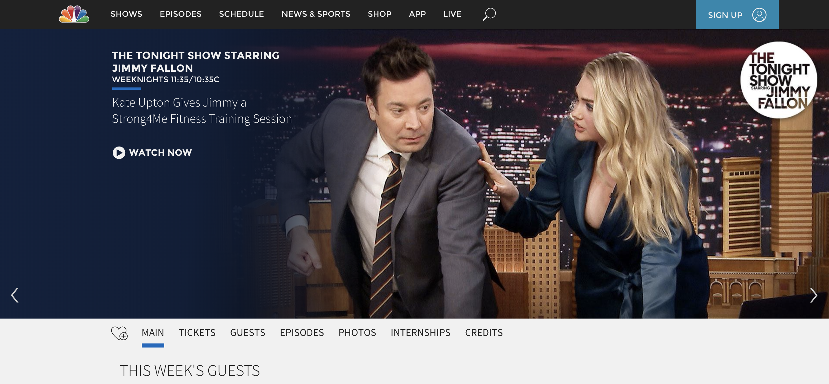 The Tonight Show With Jimmy Fallon is an example of a headless Drupal site