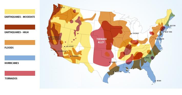 US risk map data center