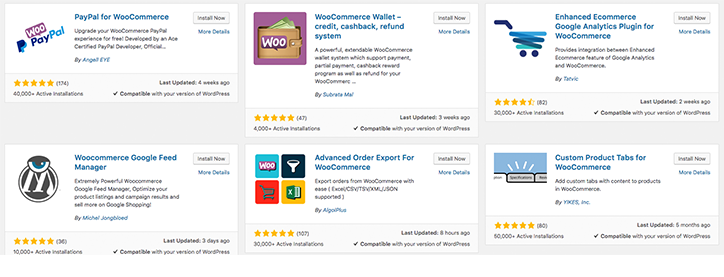 WooCommerce Additional Plugins to choose
