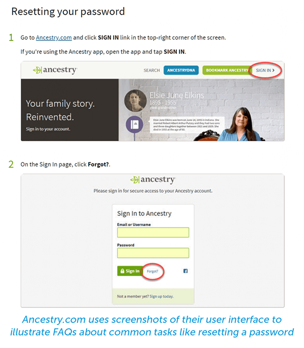 ancestry resetting your password multimedia faq