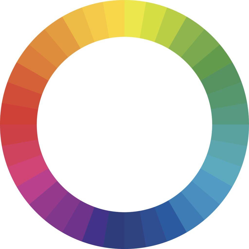 color wheel to determine button color
