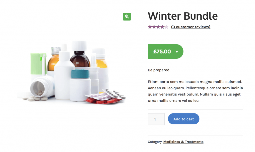 customize woocommerce product pages with the pharmacy child theme for Storefront