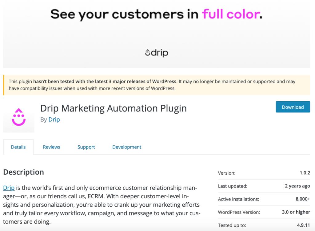 Drip Marketing Automation Plugin