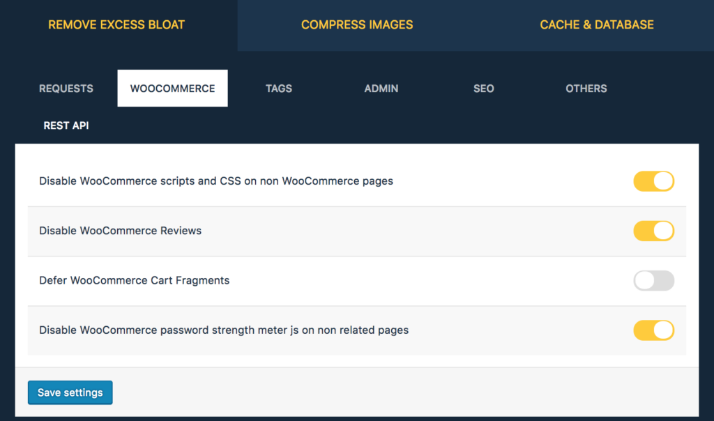there are native platform options on WooCommerce can make your woocommerce store faster