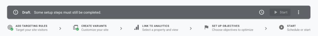 Google Optimize Draft
