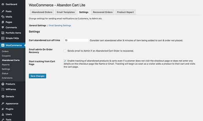 Cart Abandonment Options: Abandoned Cart Lite for WooCommerce