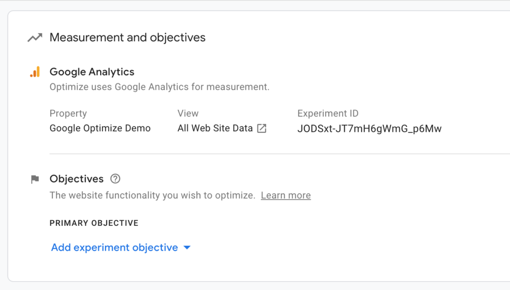 Measurements and Objectives