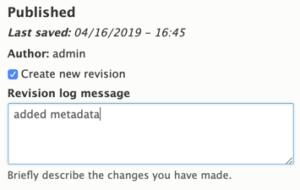 Drupal 8 Sample Revision Log Entry,
