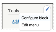 Drupal 8 Edit Block options