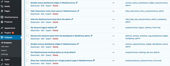 snippets can make your woocommerce store faster