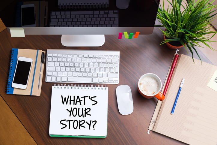 tell your story on your blog homepage